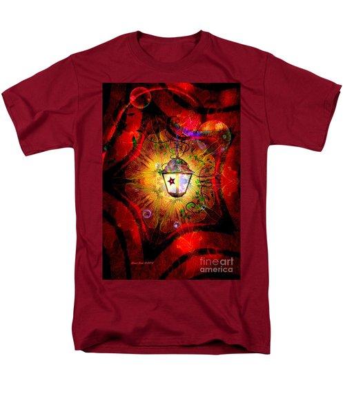 Christmas Lantern And Christmas Star Men's T-Shirt  (Regular Fit)