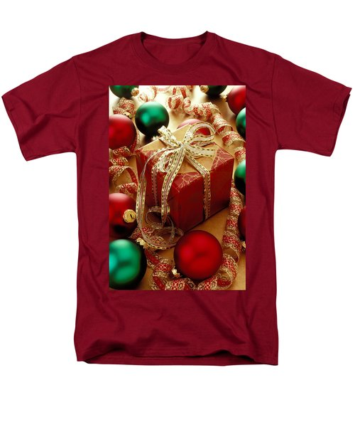 Christmas Present And Ornaments Men's T-Shirt  (Regular Fit) by Garry Gay
