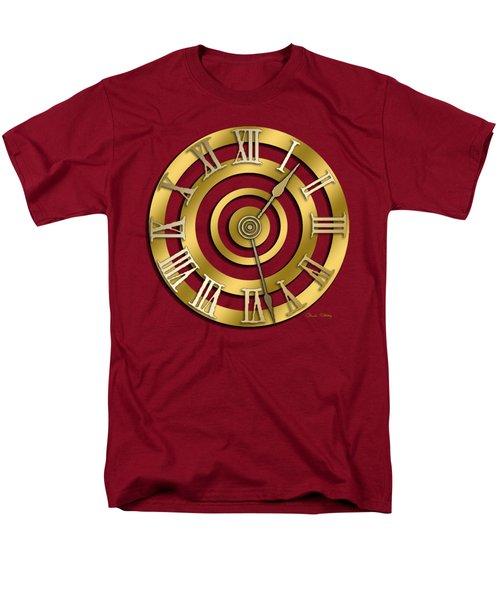 Men's T-Shirt  (Regular Fit) featuring the digital art Circular Clock Design by Chuck Staley