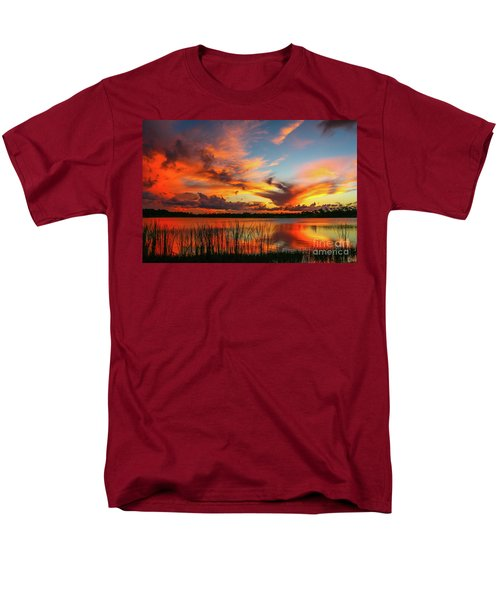 Colorful Fort Pierce Sunset Men's T-Shirt  (Regular Fit) by Tom Claud