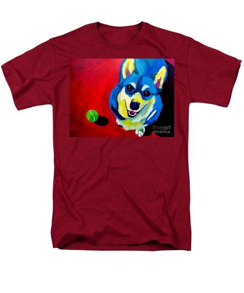Corgi - Play Ball Men's T-Shirt  (Regular Fit)