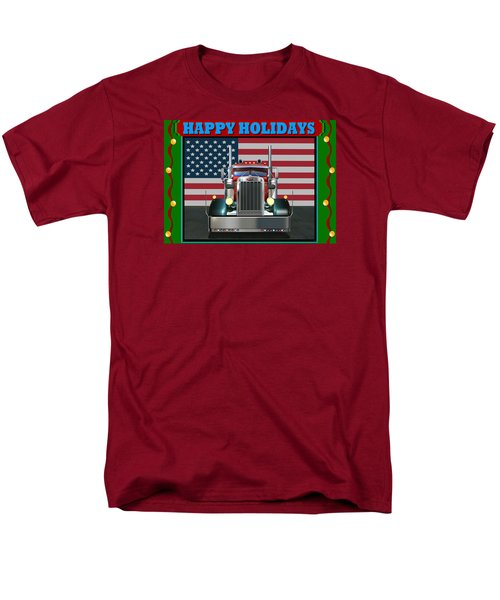 Custom Pete Happy Holidays Men's T-Shirt  (Regular Fit) by Stuart Swartz