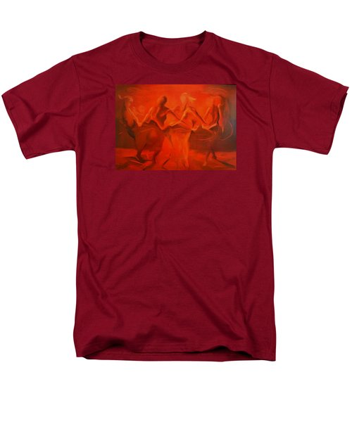 Men's T-Shirt  (Regular Fit) featuring the painting Dancing In The Gloaming by Georg Douglas