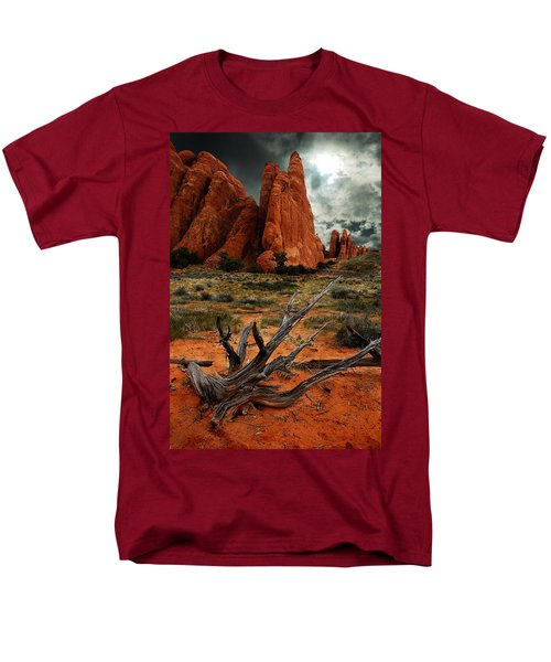 Men's T-Shirt  (Regular Fit) featuring the photograph Desert Floor by Harry Spitz