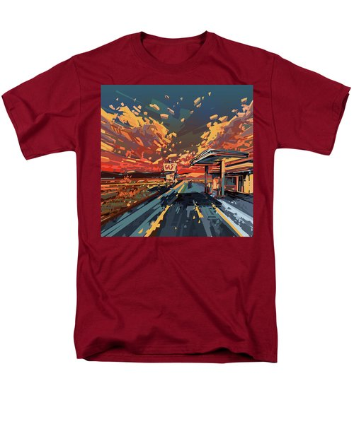 Desert Road Landscape 2 Men's T-Shirt  (Regular Fit) by Bekim Art