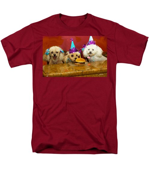 Dog Party Men's T-Shirt  (Regular Fit) by Diana Haronis