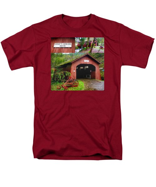 Drift Creek Covered Bridge Men's T-Shirt  (Regular Fit) by Susan Garren