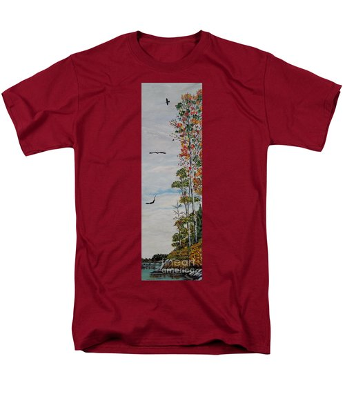Men's T-Shirt  (Regular Fit) featuring the painting Eagles Point by Marilyn  McNish