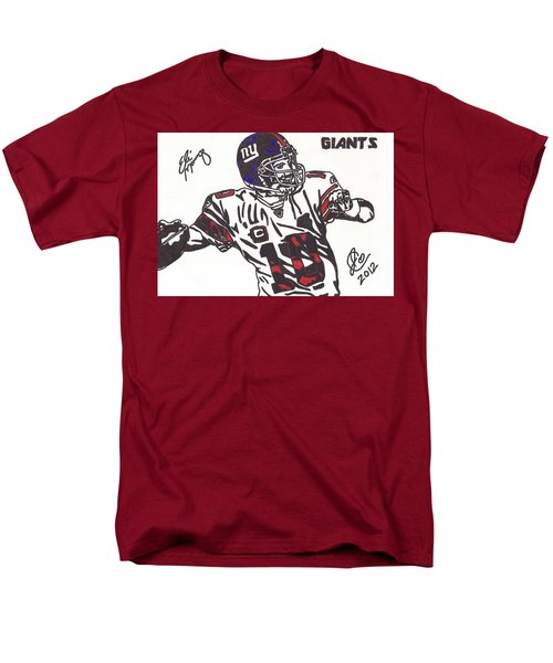 Men's T-Shirt  (Regular Fit) featuring the drawing Eli Manning by Jeremiah Colley