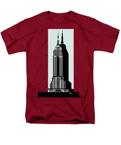 Empire State Building Deco Minimal Men's T-Shirt  (Regular Fit)