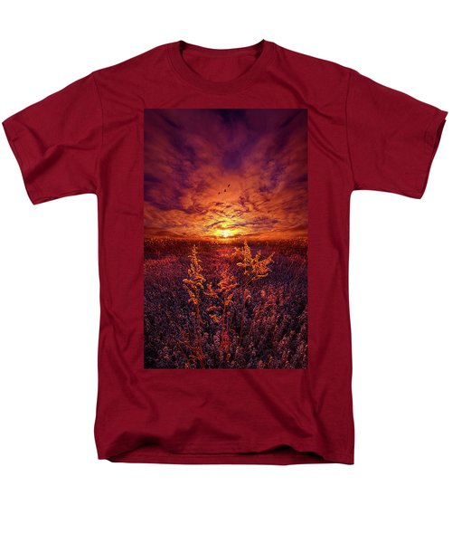 Men's T-Shirt  (Regular Fit) featuring the photograph Every Sound Returns To Silence by Phil Koch
