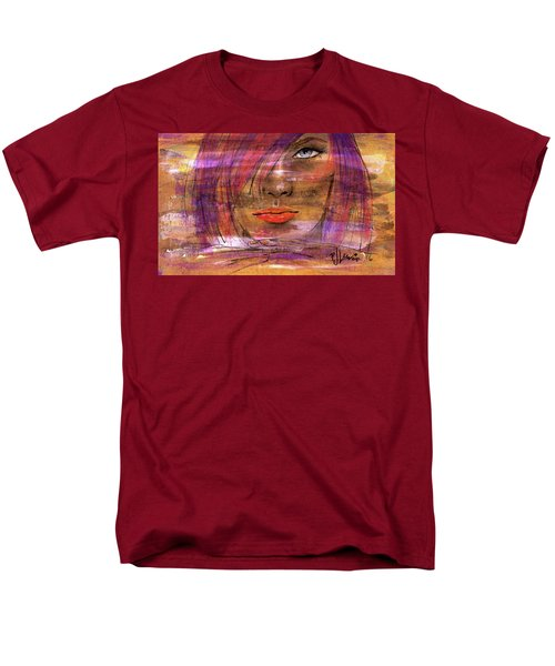 Men's T-Shirt  (Regular Fit) featuring the painting Fadding Away by P J Lewis