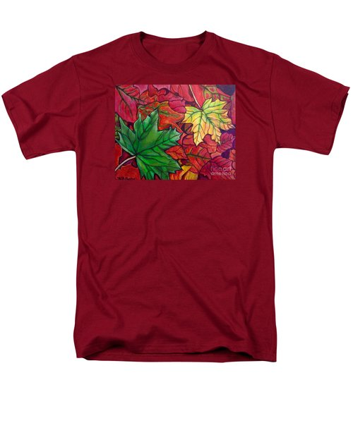 Falling Leaves I Painting Men's T-Shirt  (Regular Fit) by Kimberlee Baxter