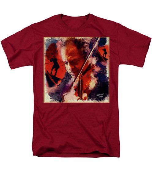 Men's T-Shirt  (Regular Fit) featuring the painting Fiddler by Ted Azriel