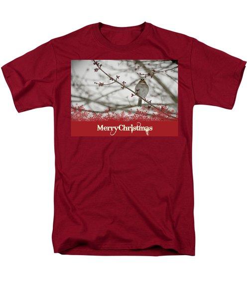 Finch Christmas Men's T-Shirt  (Regular Fit) by Trish Tritz