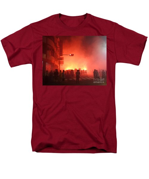 Fireworks During A Temple Procession Men's T-Shirt  (Regular Fit)