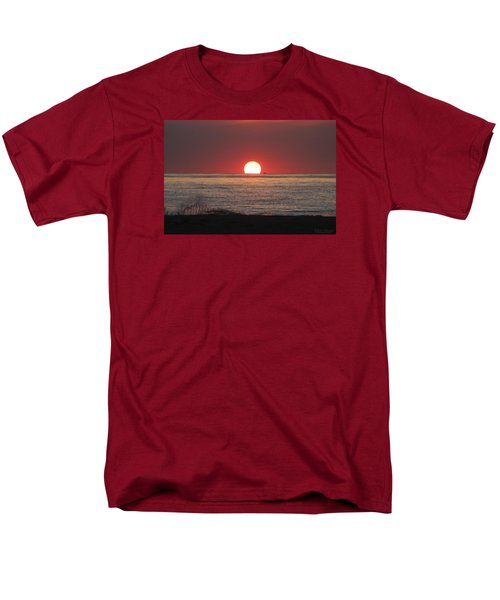 Men's T-Shirt  (Regular Fit) featuring the photograph Fishing Boat Sunrise by Robert Banach