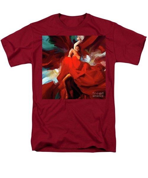 Men's T-Shirt  (Regular Fit) featuring the painting Flamenco Dance 7750 by Gull G