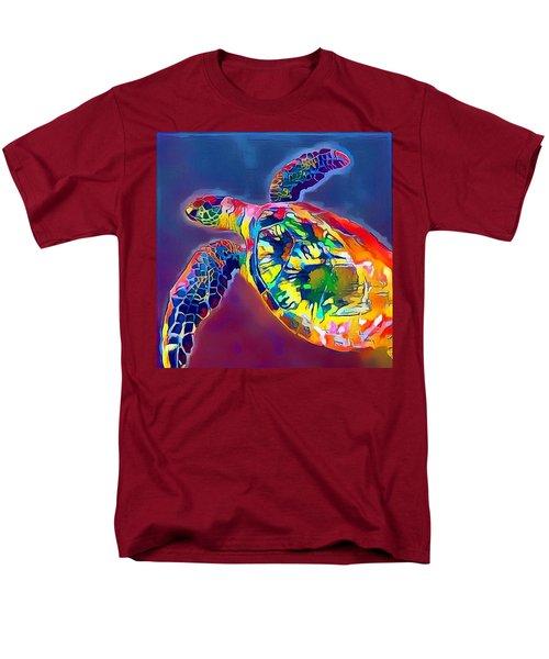 Men's T-Shirt  (Regular Fit) featuring the digital art Flash The Turtle by Erika Swartzkopf