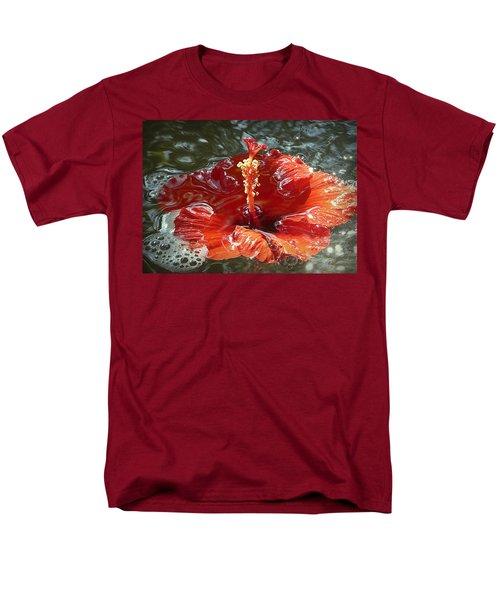 Floating Hibiscus Men's T-Shirt  (Regular Fit) by Lori Seaman