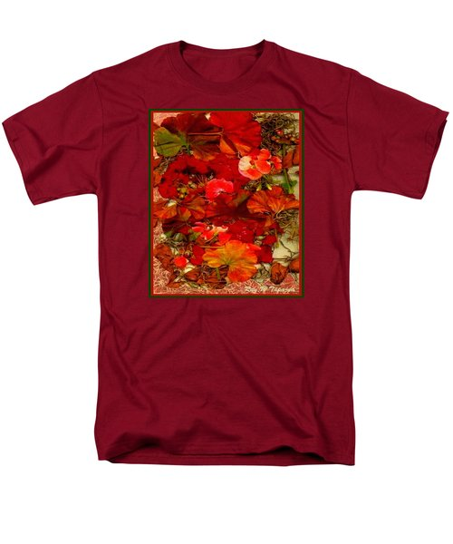 Men's T-Shirt  (Regular Fit) featuring the mixed media Flowers For You by Ray Tapajna