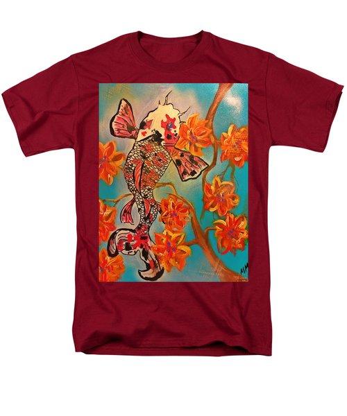 Focus Flower  Men's T-Shirt  (Regular Fit) by Miriam Moran