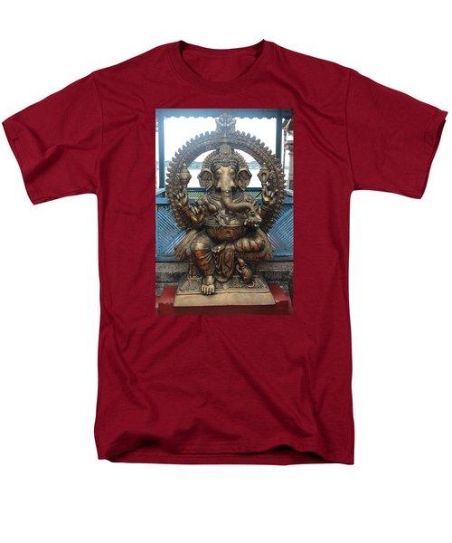 Ganapati Bronze Statue, Fort Kochi Men's T-Shirt  (Regular Fit) by Jennifer Mazzucco
