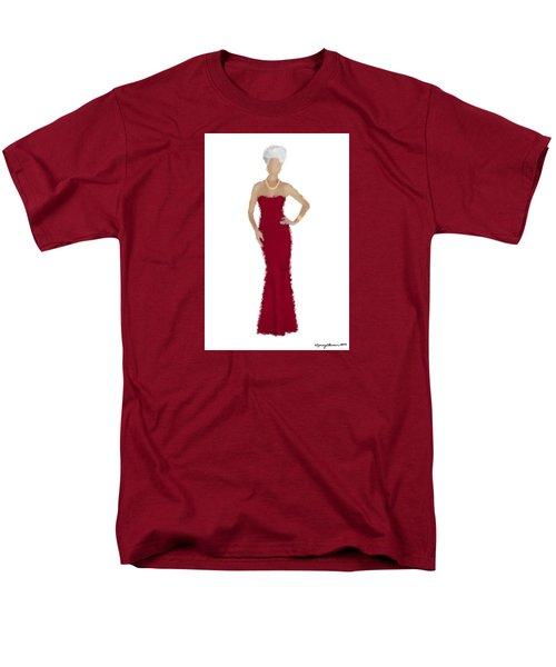 Men's T-Shirt  (Regular Fit) featuring the digital art Garnet by Nancy Levan