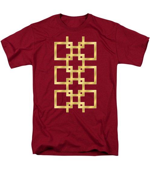 Men's T-Shirt  (Regular Fit) featuring the digital art Geometric Transparent by Chuck Staley