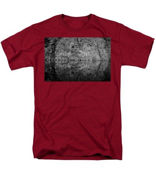 Geometries On A Mountain Lake Men's T-Shirt  (Regular Fit) by Cesare Bargiggia