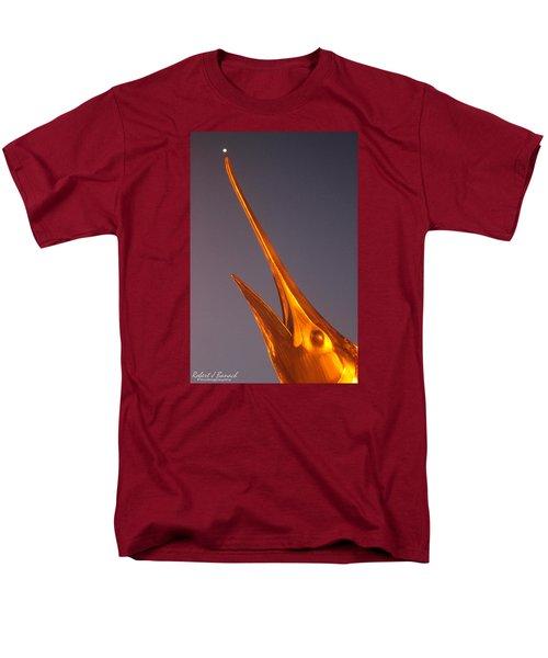 Men's T-Shirt  (Regular Fit) featuring the photograph Golden Marlin And A Full Moon by Robert Banach