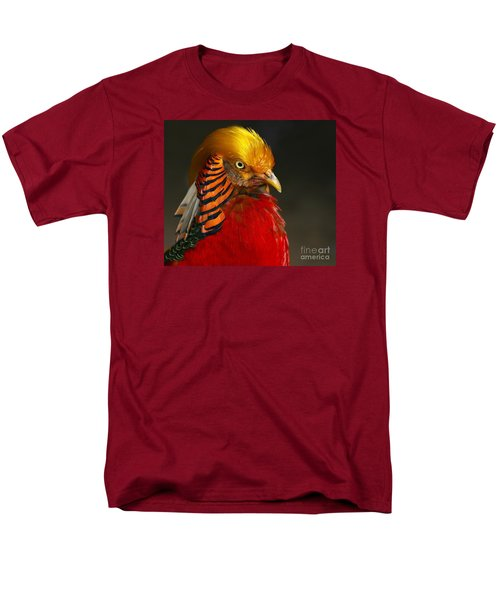 Men's T-Shirt  (Regular Fit) featuring the photograph Golden Ornamental Pheasant by Debbie Stahre