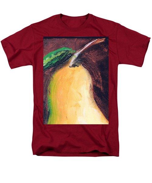 Men's T-Shirt  (Regular Fit) featuring the painting Golden Pear.. by Jolanta Anna Karolska