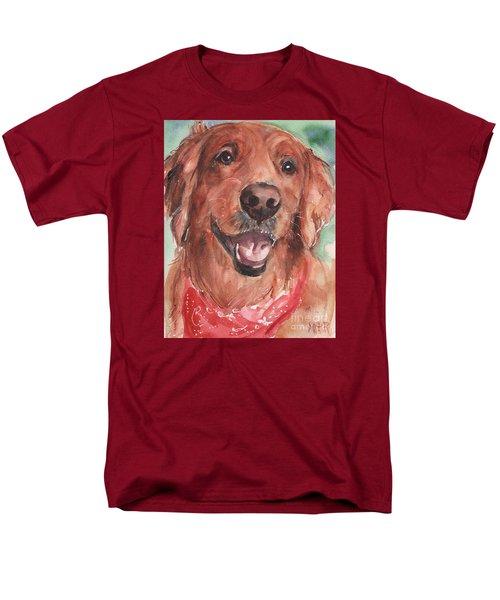 Golden Retriever Dog In Watercolori Men's T-Shirt  (Regular Fit) by Maria's Watercolor