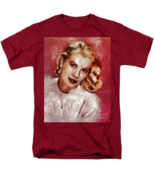 Grace Kelly, Actress And Princess Men's T-Shirt  (Regular Fit) by Mary Bassett