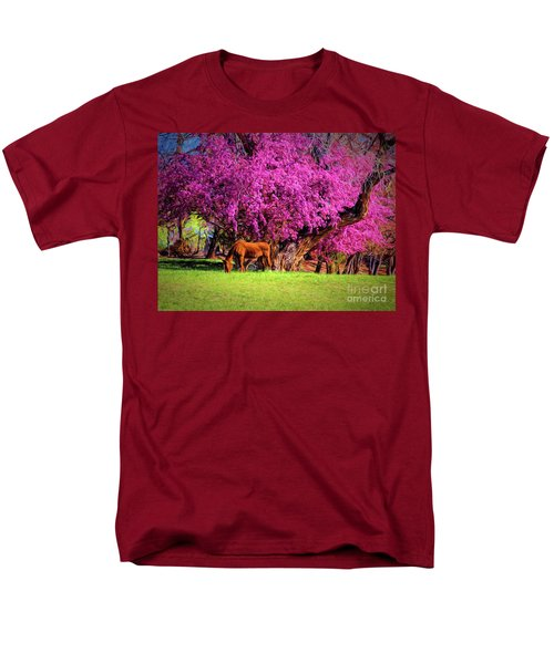 Grazing Horse  ... Men's T-Shirt  (Regular Fit) by Chuck Caramella