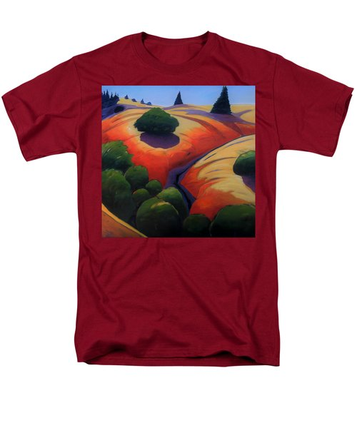 Men's T-Shirt  (Regular Fit) featuring the painting Gully by Gary Coleman