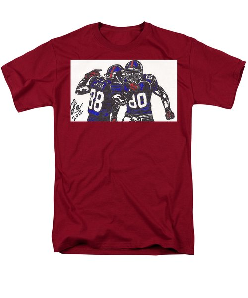 Hakeem Nicks And Victor Cruz Men's T-Shirt  (Regular Fit) by Jeremiah Colley