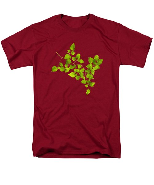 Men's T-Shirt  (Regular Fit) featuring the mixed media Hawthorn Pressed Leaf Art by Christina Rollo