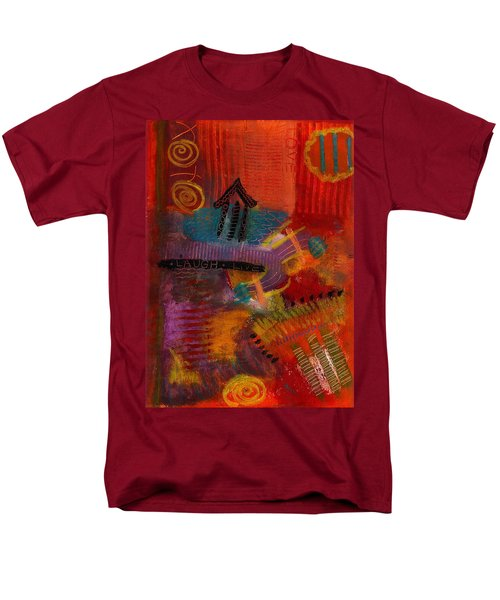 Men's T-Shirt  (Regular Fit) featuring the painting House Of Laughter by Angela L Walker