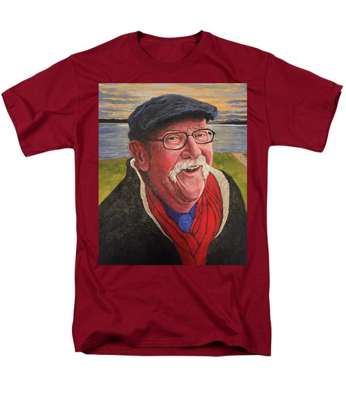 Men's T-Shirt  (Regular Fit) featuring the painting Hugh Hanson Davidson by Tom Roderick