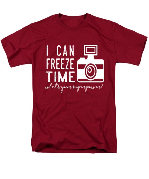 Men's T-Shirt  (Regular Fit) featuring the photograph I Can Freeze Time by Heather Applegate