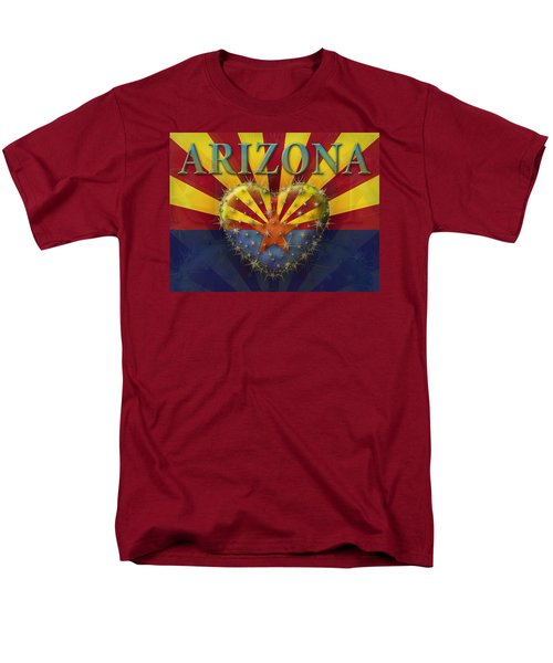I Love Arizona Flag Men's T-Shirt  (Regular Fit) by James Larkin