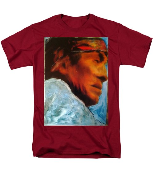Men's T-Shirt  (Regular Fit) featuring the painting In Cool Clear Waters by FeatherStone Studio Julie A Miller