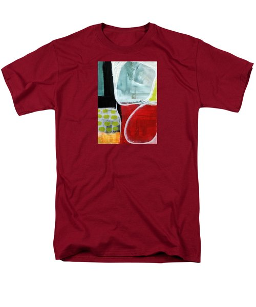 Intersection 37- Abstract Art Men's T-Shirt  (Regular Fit) by Linda Woods