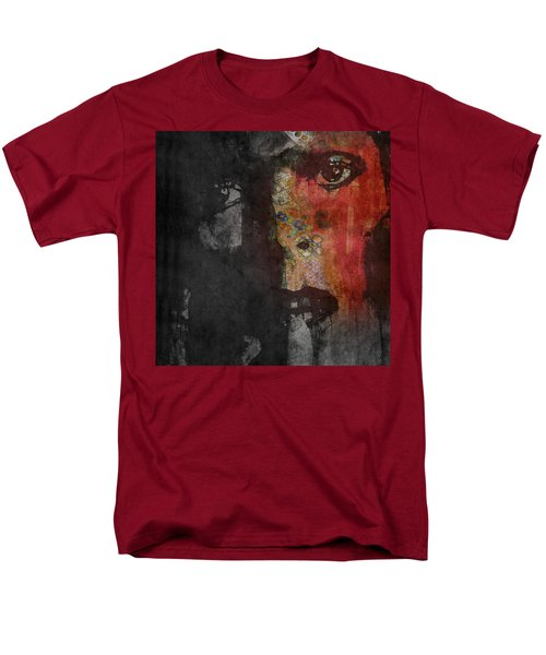 Men's T-Shirt  (Regular Fit) featuring the painting Jamming Good With Wierd And Gilly by Paul Lovering