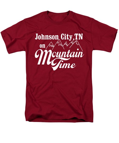 Men's T-Shirt  (Regular Fit) featuring the digital art Johnson City Tn On Mountain Time by Heather Applegate