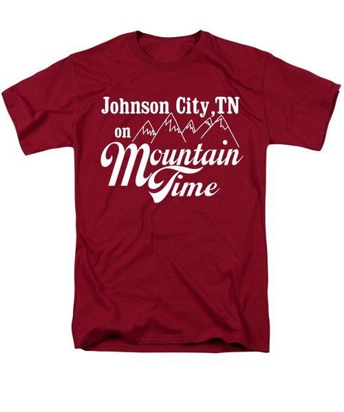 Johnson City Tn On Mountain Time Men's T-Shirt  (Regular Fit)