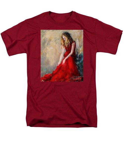 Lady In Red 2 Men's T-Shirt  (Regular Fit) by Jennifer Beaudet