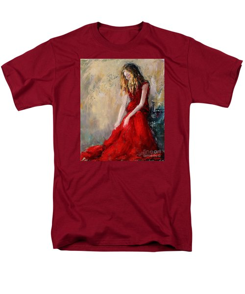 Lady In Red 2 Men's T-Shirt  (Regular Fit)
